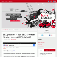 Platz 7 SEOphonist SEO Contest