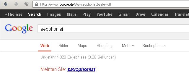 Ergebnisse bei google.de zu SEOphonisten