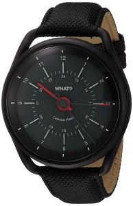 What? Calendar Watch (schwarz)