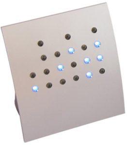 getDigital Binäre Tischuhr (silber)